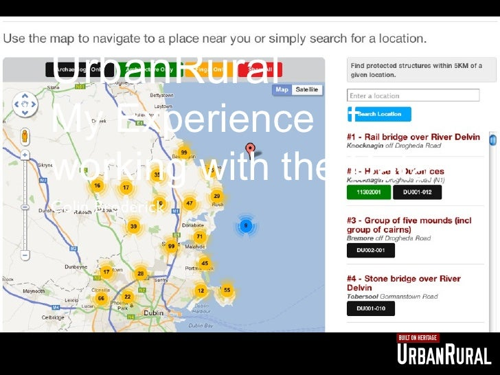 UrbanRuralMy Experience ofworking with the DataColin Broderick