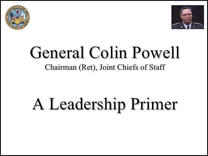 Colin Powell On Leadership