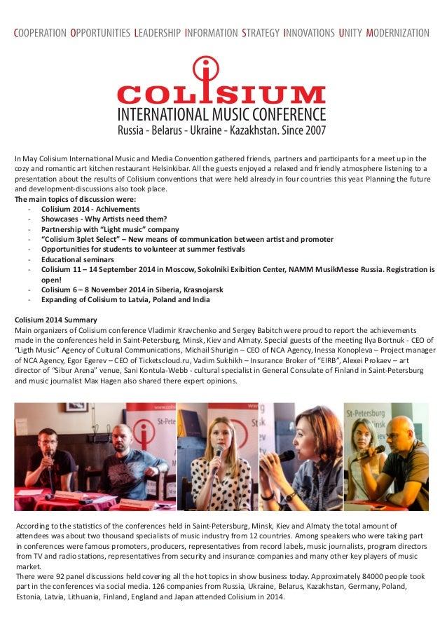 Colisium Digest #1 2014