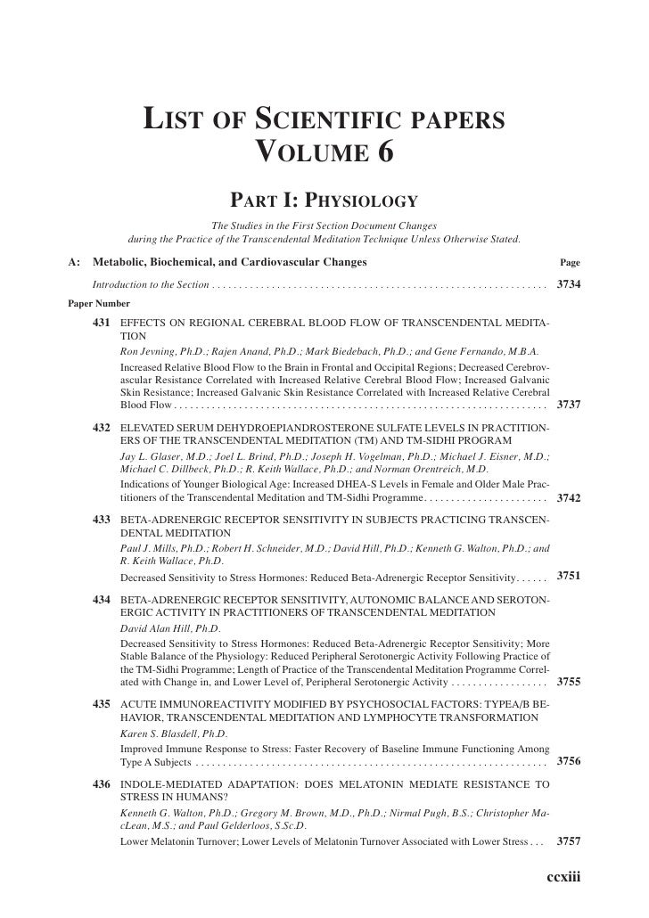 Coll Papers Contents Volume 6