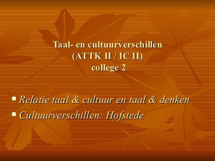 Coll2.taal cultuurverschillen.