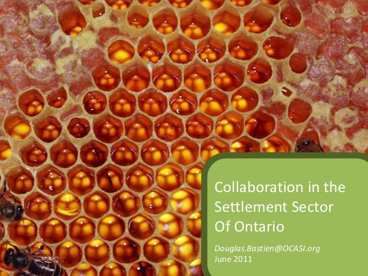 Collaboration in the Settlement Sector<br />Of Ontario<br />Douglas.Bastien@OCASI.org<br />June 2011<br />