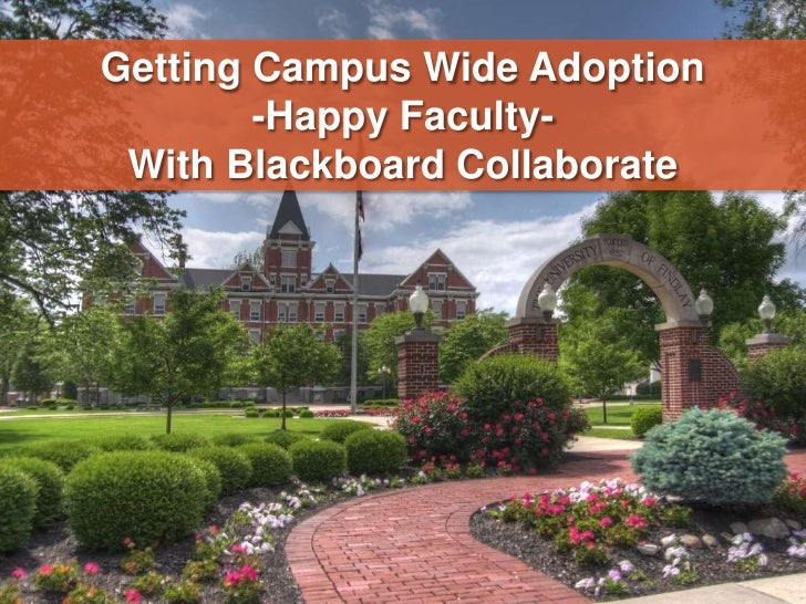 Getting Campus Wide Adoption<br />-Happy Faculty-<br />With Blackboard Collaborate<br />