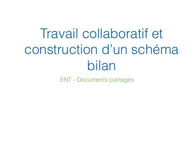 Travail collaboratif et construction d'un schéma bilan ENT - Documents partagés