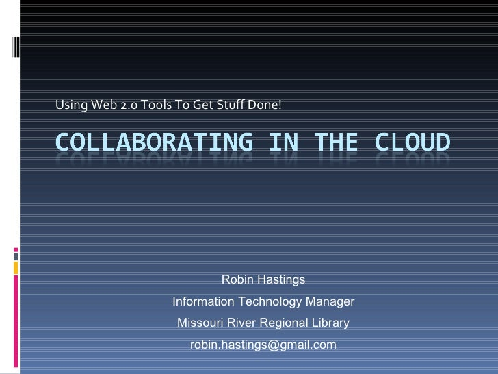 Collaborating In The Cloud - updated