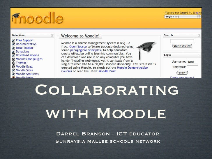 Collaborating with Moodle in the Middle years