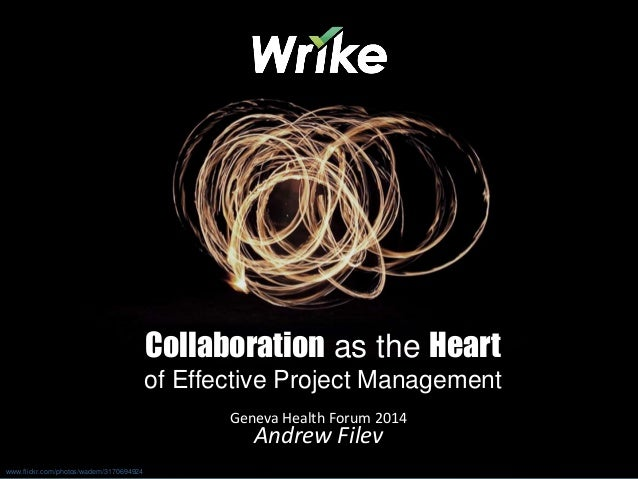 Collaboration as the Heart of Project Management: Geneva Health Forum 2014