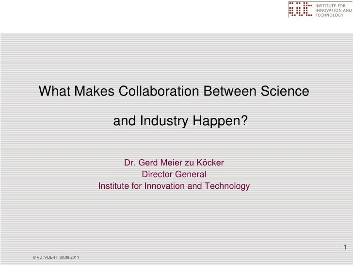Collaboration between science&industry