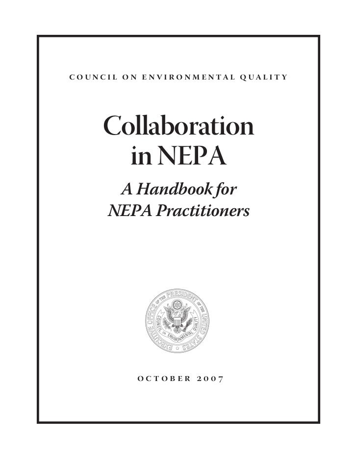 Collaboration In Nepa: A Handbook for Practioners