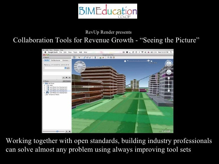 """RevUp Render presents   Collaboration Tools for Revenue Growth - """"Seeing the Picture""""     Working together with open stand..."""
