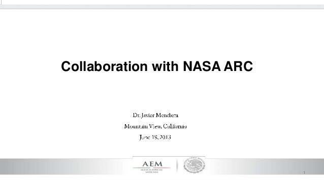 Collaboration with nasa arc
