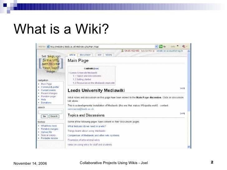 Collaborative Teaching Wiki ~ Collaborative projects using wikis