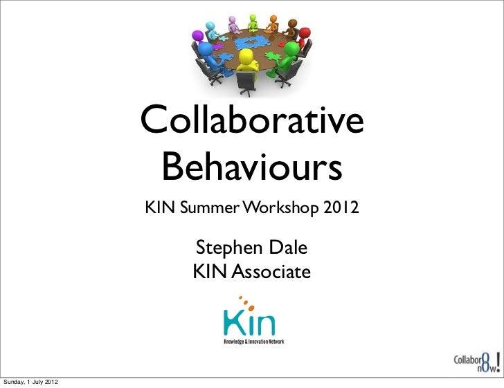 Collaborative behaviours
