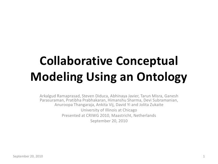 Collaborative conceptual modeling using an ontology 09 20_2010