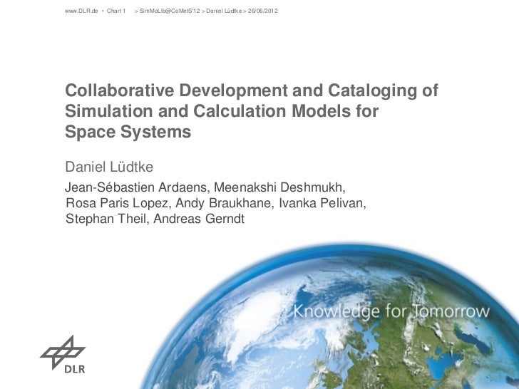 Collaborative development and cataloguing of simulation and calculation models for space systems