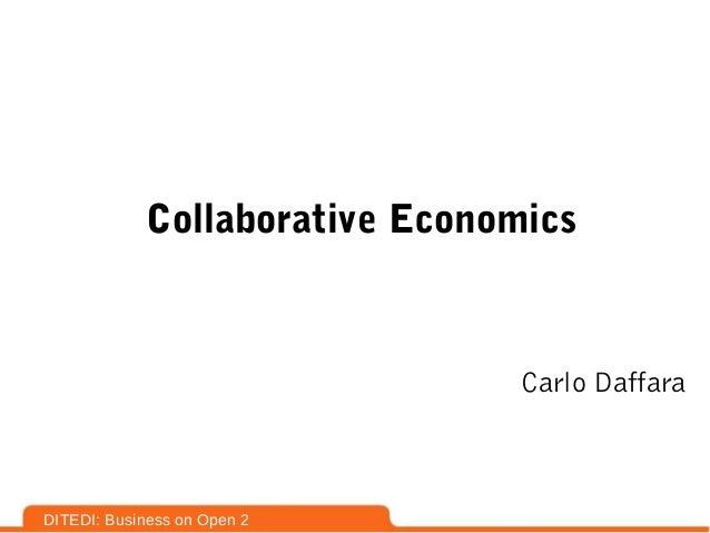 Collaborative economics