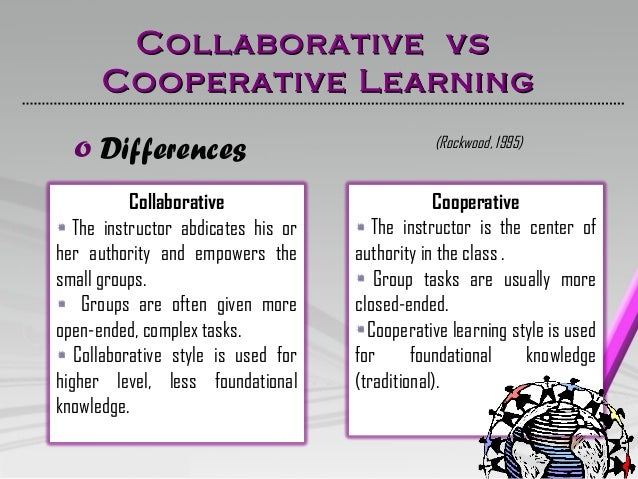 Collaborative Student Work : Collaborative vs cooperative learning