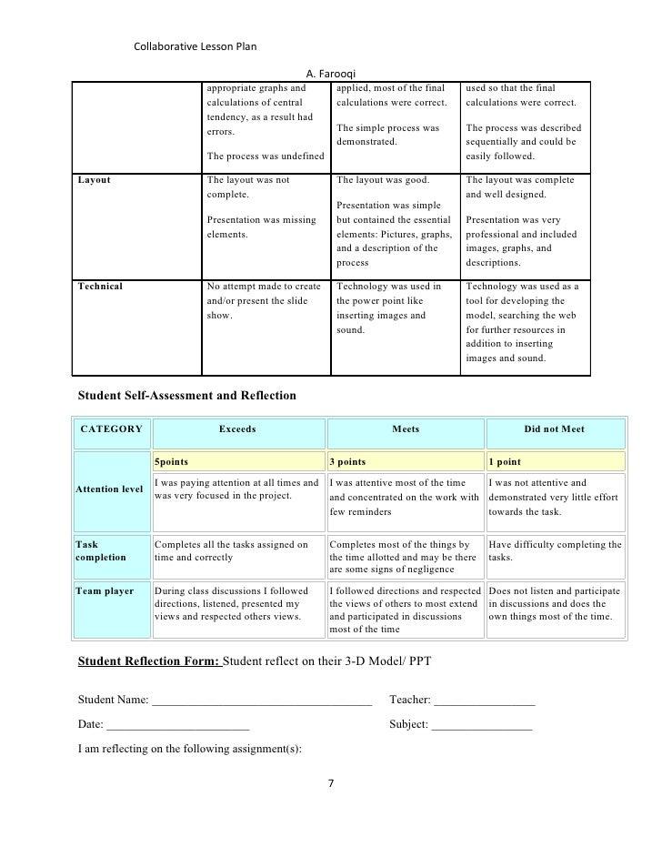 Collaborative Teaching Lesson Plans : Collaborative lesson plan farooqi
