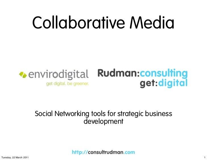 Collaborative media: Hannah Rudman Lecture 22.03.11