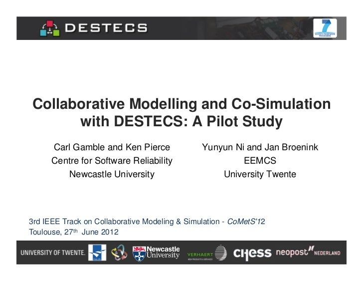 Collaborative modeling and co simulation with destecs - a pilot study