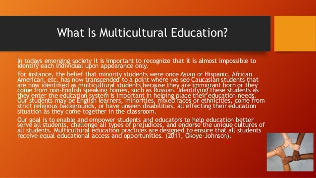 defining 'multicultural education' and the need