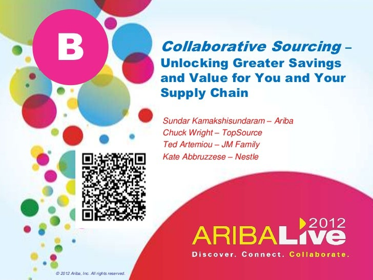 Collaborative Sourcing  -  Unlocking Greater Savings and Value for You and Your Supply Chain