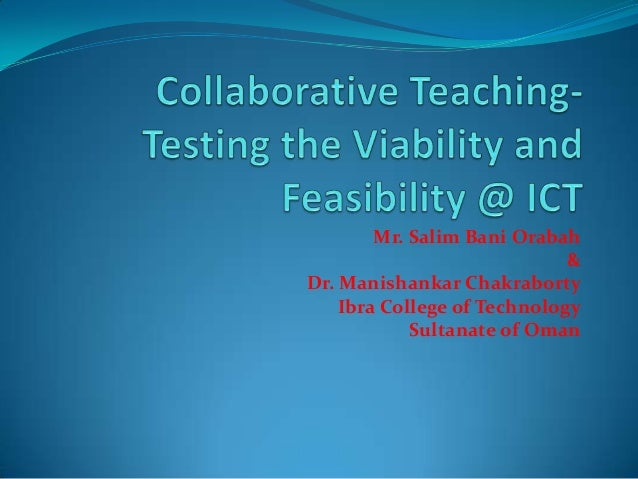 Collaborative Co Teaching : Collaborative teaching by dr manishankar chakraborty and