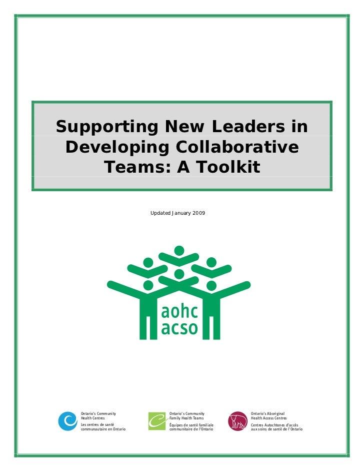 Collaborative teams toolkit mar 2009 dr shabon