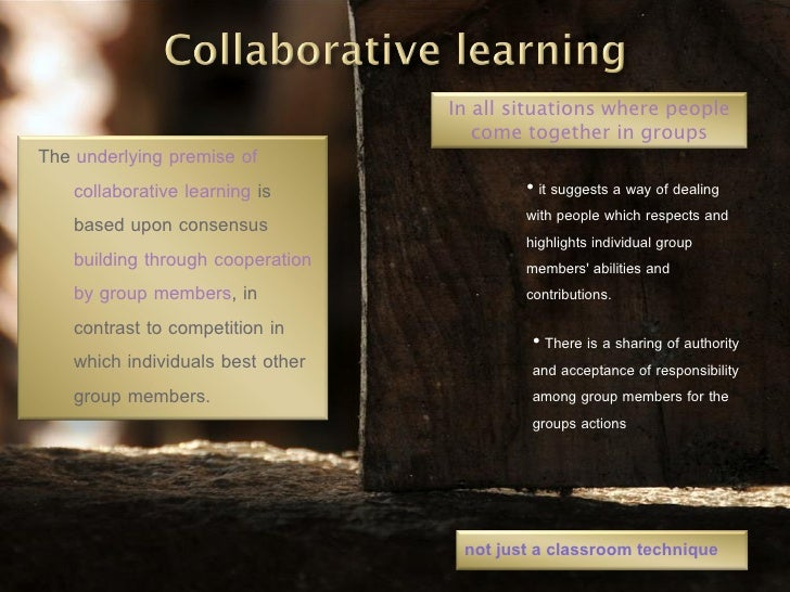 Collaborative Structures In The Classroom ~ Collaborative versus cooperative learning