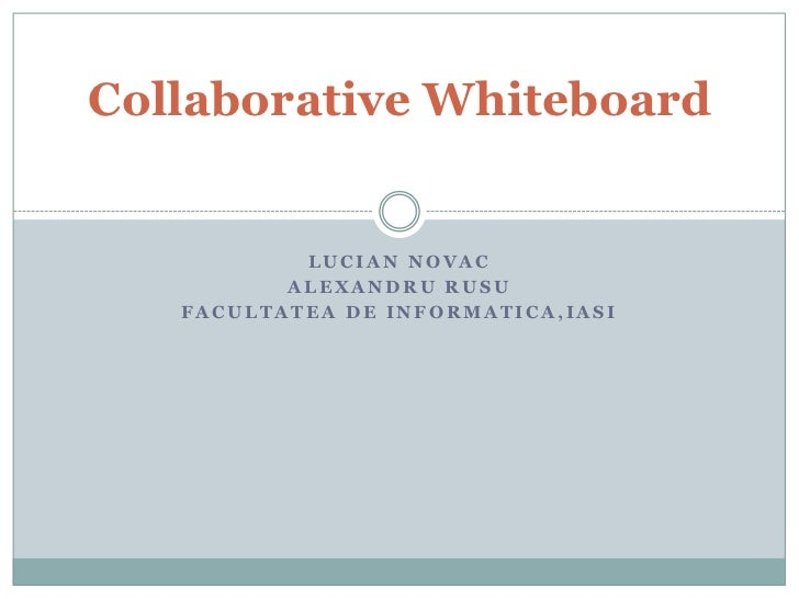 Collaborative whiteboard