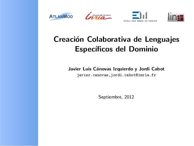 Collaboro - Creación Colaborativa de Lenguajes Específicos del Dominio