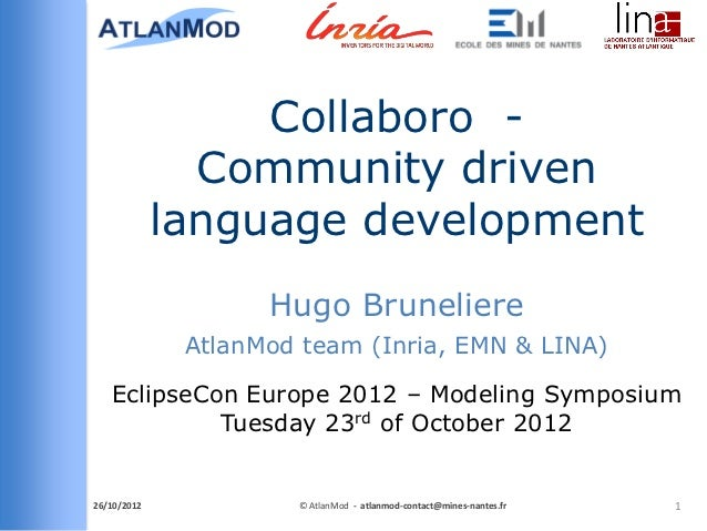 Collaboro - EclipseCon Europe 2012, Modeling Symposium