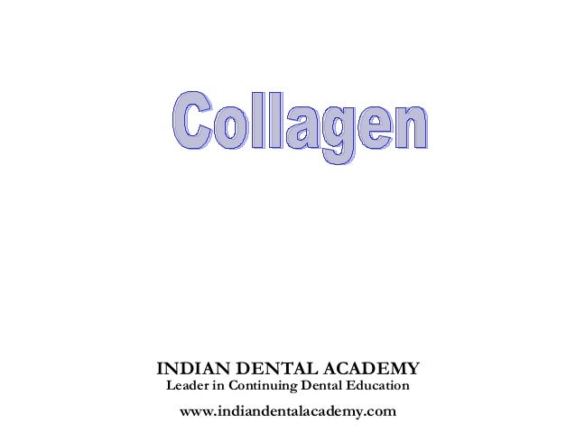 Collagen  /certified fixed orthodontic courses by Indian dental academy