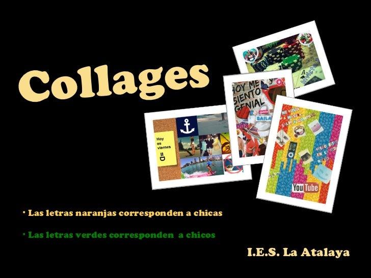Collages de los alumnos