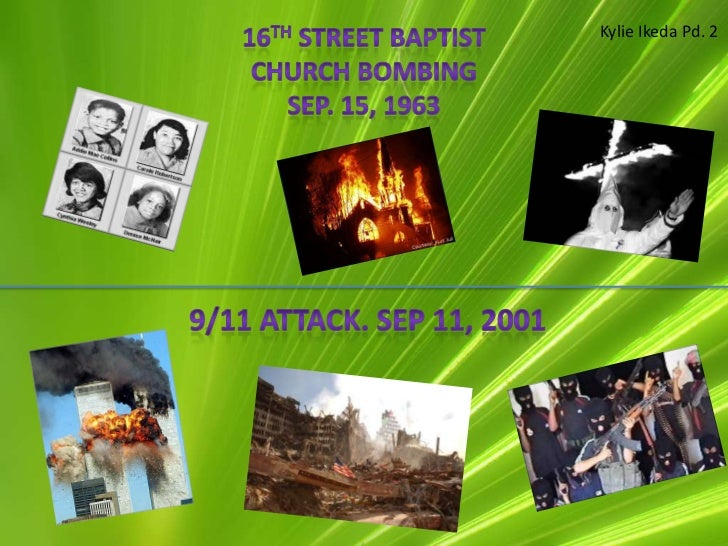 !6th street church bombing, 9/11 attack