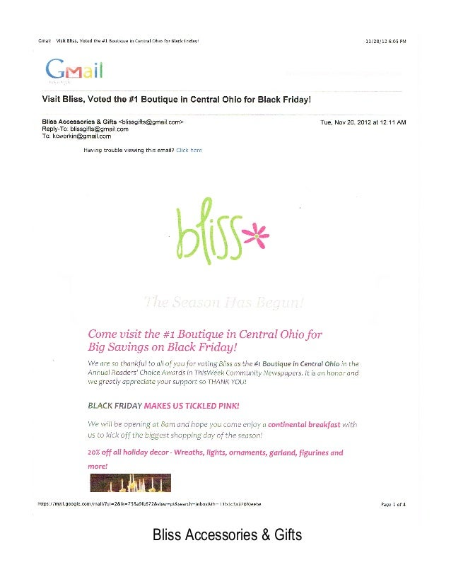 !    Bliss Accessories & Gifts