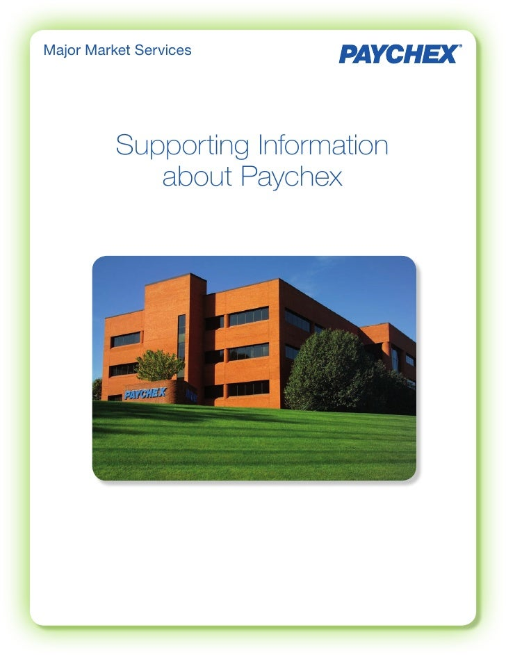 Supporting Information about Paychex