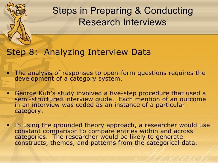 Analysing interview data for dissertation