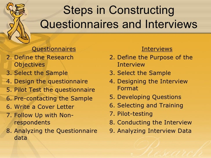 Conducting an interview for thesis