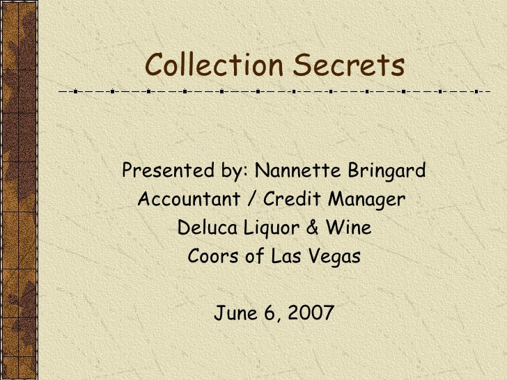 Collection Secrets Presentation