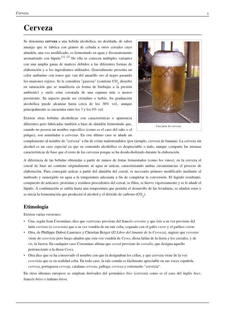 Cerveza                                                                                                                   ...