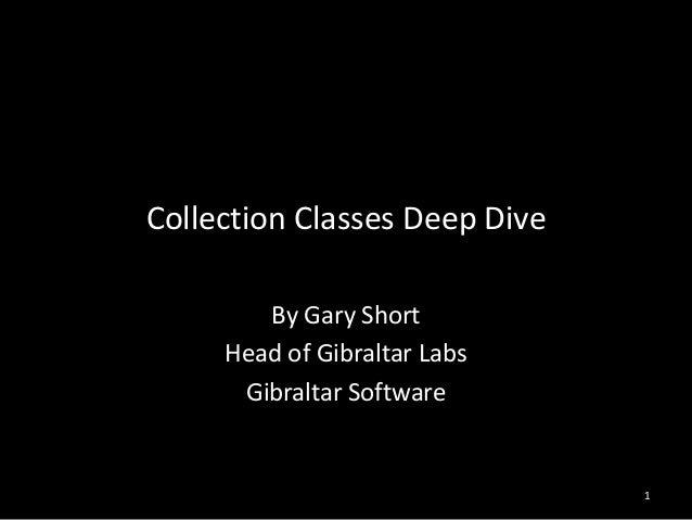 .Net Collection Classes Deep Dive  - Rocksolid Tour 2013