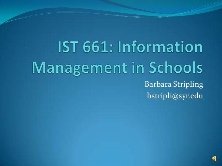 Barbara Striplingbstripli@syr.edu