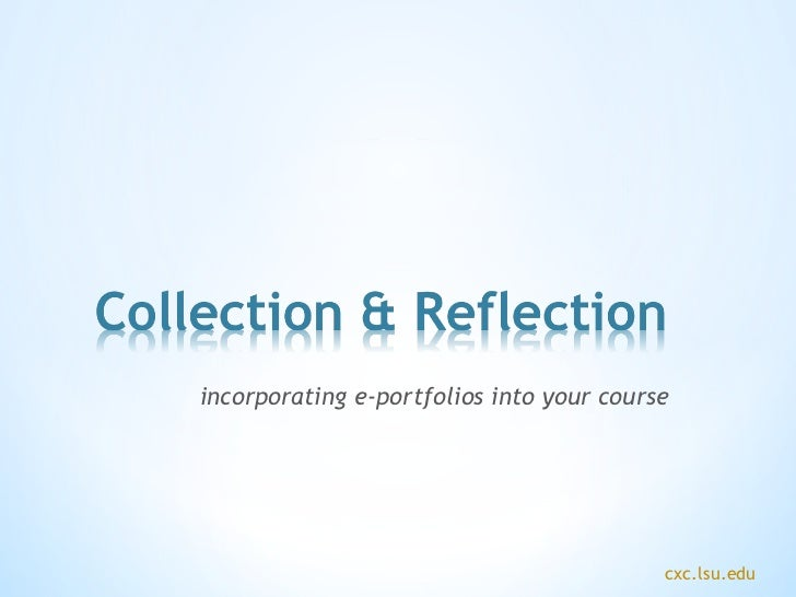 incorporating e-portfolios into your course