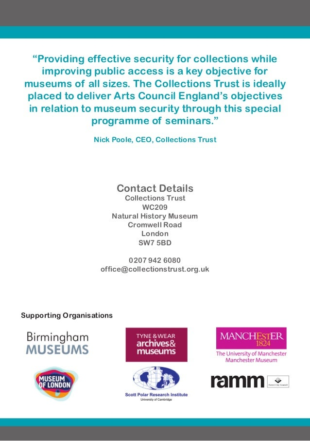Collections trust security seminar