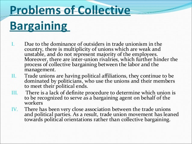defining the concept of collective bargaining Collective bargaining definition, the process by which wages, hours, rules, and working conditions are negotiated and agreed upon by a union with an employer for all the employees collectively whom it represents see more.
