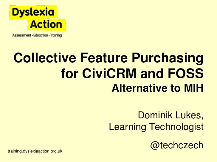 Collective feature purchasing for #CiviCRM and #FOSS