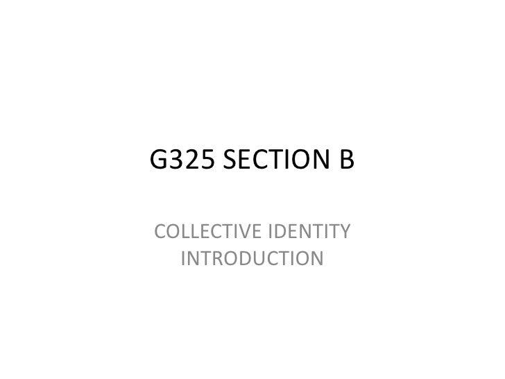 Collective identity intro