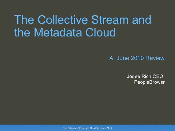 Collective stream and metadata june 2010 by PeopleBrowsr