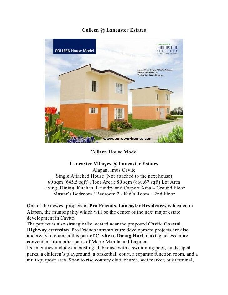 Colleen @ Lancaster Estates                                   Colleen House Model                     Lancaster Villages @...